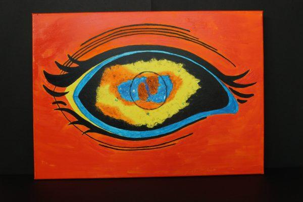 Con gli occhi della scienza (sfondo rosso)