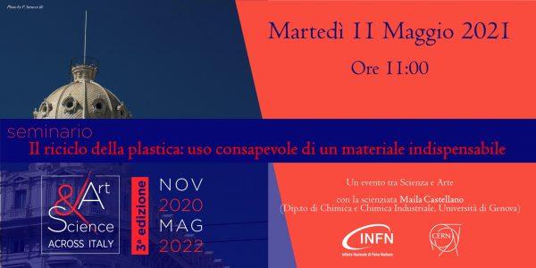 """Tappa di Genova – 11 Maggio 2021 ore 11:00: """"Il riciclo della plastica: uso consapevole di un materiale indispensabile"""""""